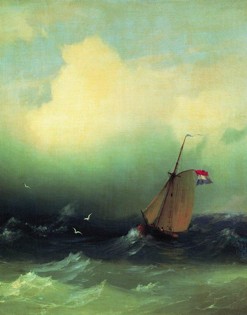 Буря на море - 1847 год