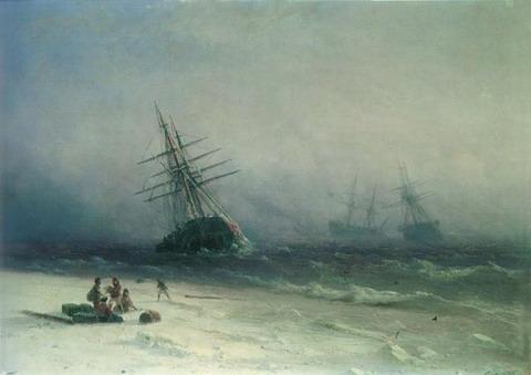 Кораблекрушение в Северном море - 1875 год