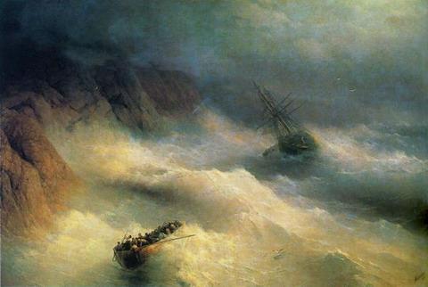 Буря у мыса Айя - 1875 год