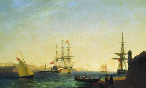 Порт ла Валетта на острове Мальта - 1844 год