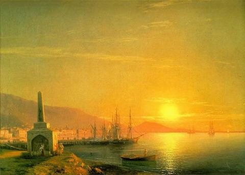 Восход солнца в Феодосии - 1855 год