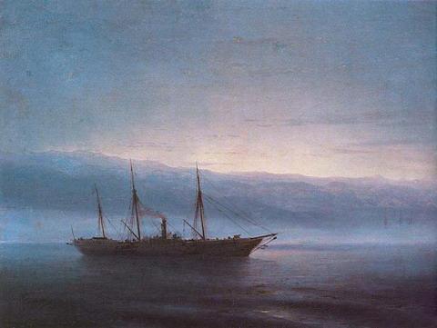 Перед боем. Корабль Константинополь - 1872 год