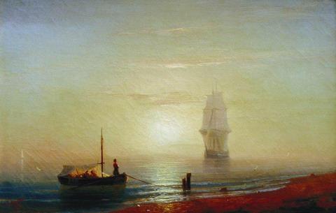 Закат на море - 1848 год