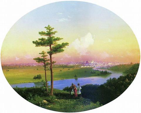 Вид на Москву с Воробьевых гор - 1848 год