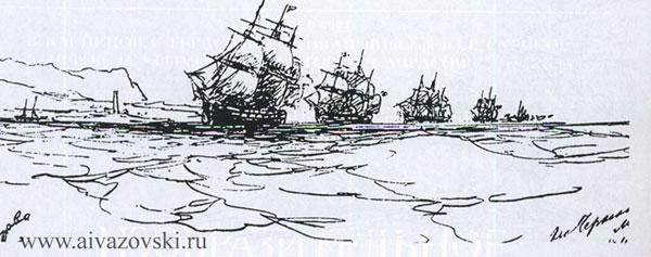 Корабли Черноморского флота в кильватерной колонне