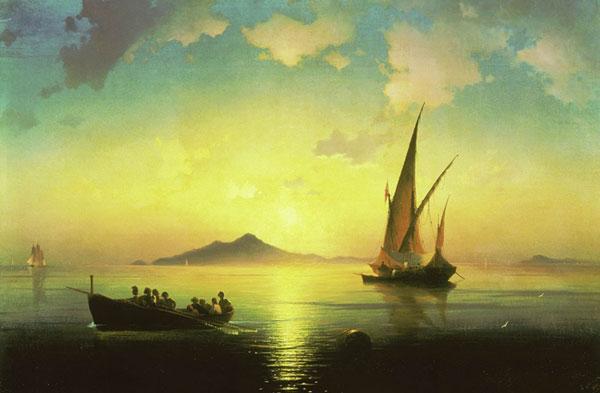 Неаполитанский залив. (Айвазовский И.К.)