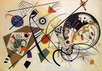 Секущая линия (В. Кандинский 1923)