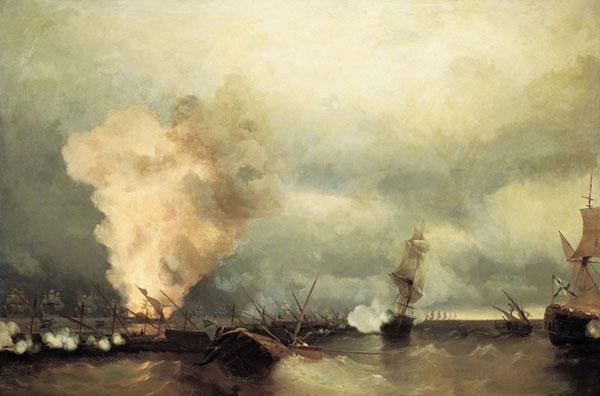 Морское сражение при Выборге 29 июня 1790 года (Айвазовский И.К.)