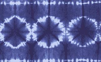 Цветы (Узелковый батик)