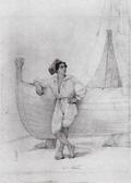 Итальянец у парусной лодки 1840.