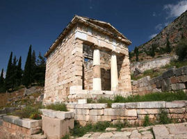 Храм Аполлона в Дельфах. Сокровищница