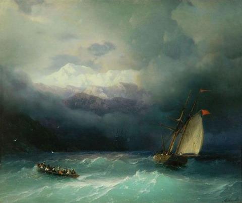 Бурное море - 1868 год