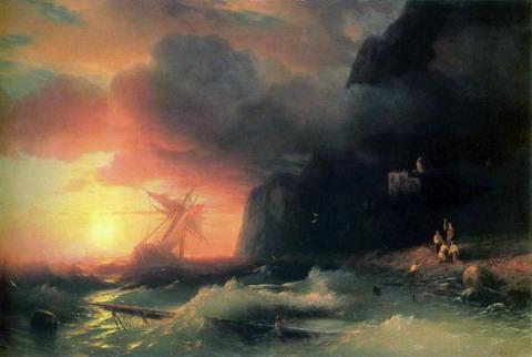 Кораблекрушение у Афонской горы - 1856 год