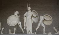Скульптурная группа. Центральный фронтон храма Афайи, о. Эгина. Ок. 500 г. до н.э. Мюнхенская глиптотека