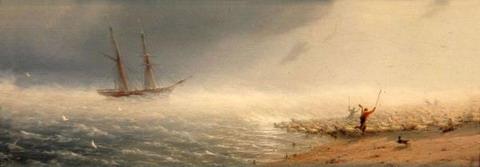 Овцы, загоняемые бурею в море - 1855 год