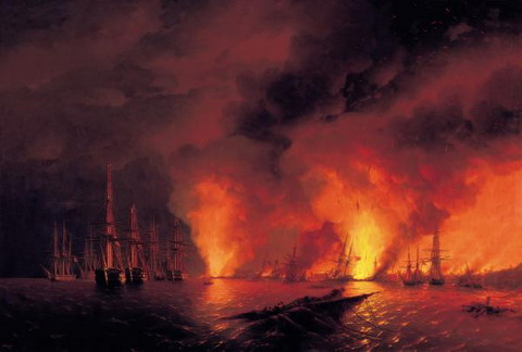 Синопский бой. Ночь после боя - 1853 год