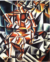 Человек + воздух + пространство (Л.С. Попова. 1912 г.)