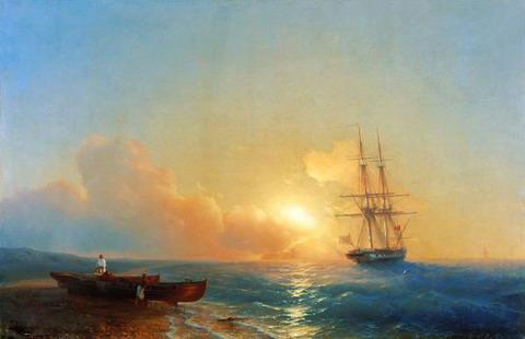 Рыбаки на берегу моря - 1852 год