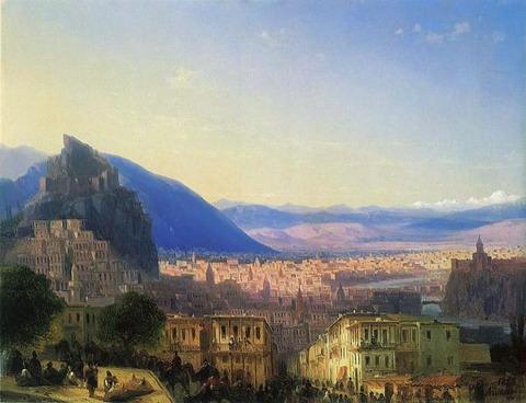 Вид Тифлиса от Сейд-Абаза - 1868 год