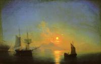 Неаполетанский залив в лунную ночь (И.К. Айвазовский)