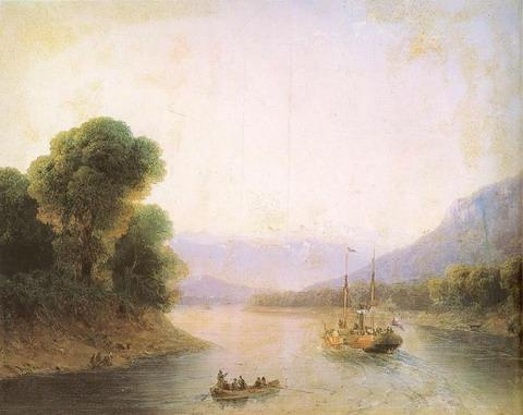 Река Риони. Грузия - 1870 год