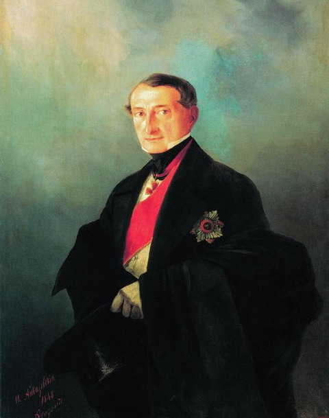 Портрет сенатора Александра Ивановича Казначеева (1788-1880), предводителя дворянства Таврической губернии - 1848 год
