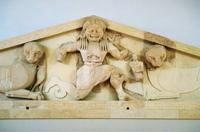 Медуза Горгона. Рельеф фронтона храма Артемиды на острове Корфу. 590-80 гг. до н.э.
