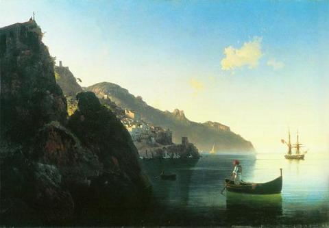 Побережье в Амальфи - 1841 год