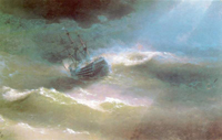 Корабль Мария во время шторма (И.К. Айвазовский)