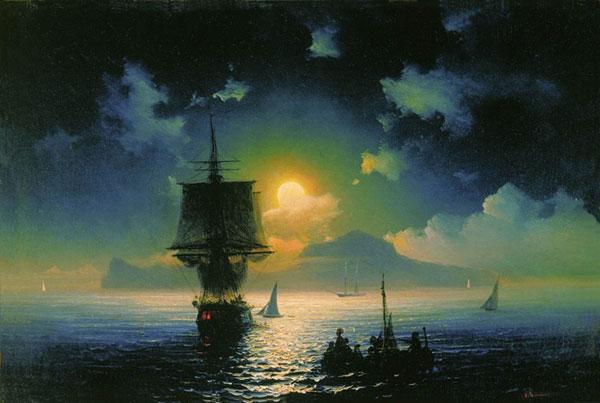 Лунная ночь на Капри. (Айвазовский И.К.)