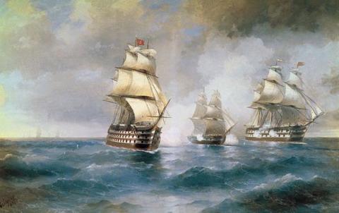 Бриг «Меркурий», атакованный двумя турецкими кораблями - 1892 год