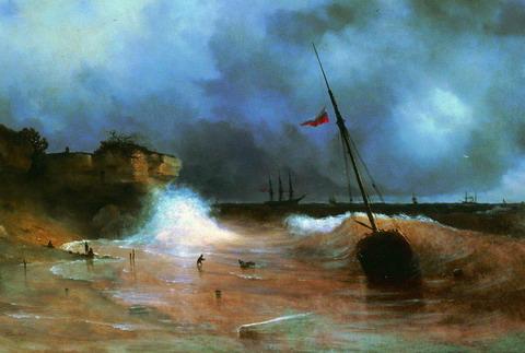 Конец бури на море - 1839 год