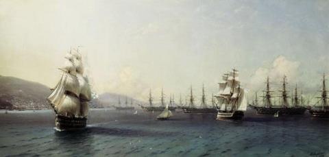 Черноморский флот в Феодосии - 1890 год