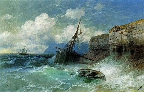 Буря на море - 1880 год