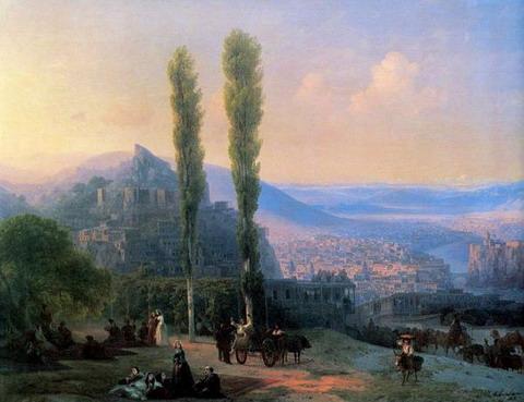 Вид Тифлиса - 1869 год