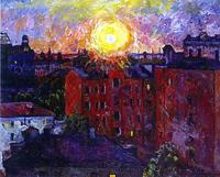 Солнце над крышами. Закат (А.В. Лентулов)