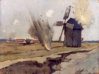 Артиллерийский обстрел неприятельского наблюдательного пункта (Авилов М.И. 1914-1917)
