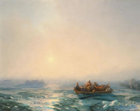 Лёд на Днепре - 1872 год