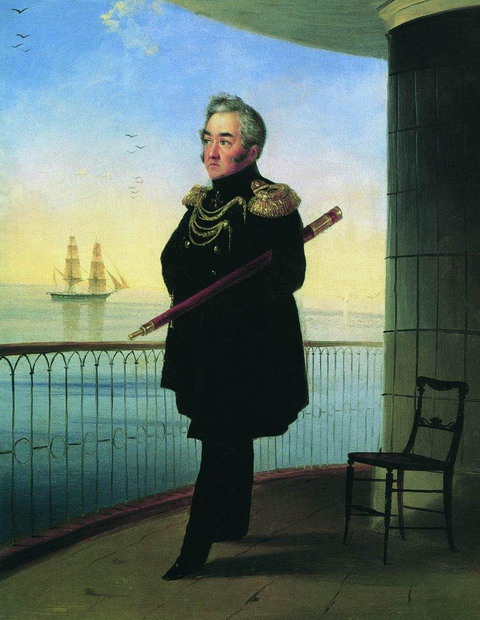 Портрет вице-адмирала М.П. Лазарева - 1839 год