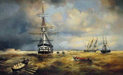 Кронштадтский рейд - 1840 год