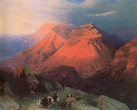 Аул Гуниб в Дагестане - 1869 год