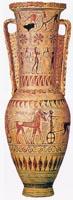 Протоаттический лутрофор из Аттики. 700—680 до н.э. Лувр. Париж