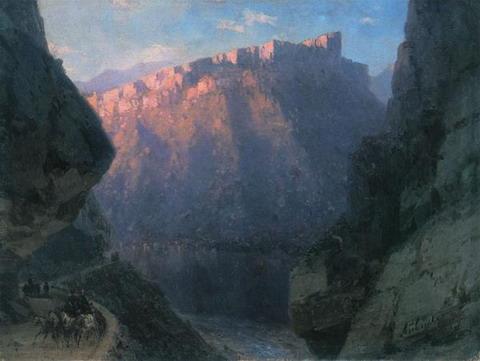 Дарьяльское ущелье - 1868 год