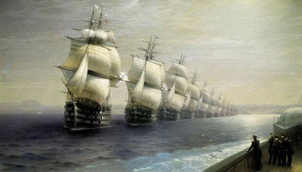 Смотр Черноморского флота в 1849 г.