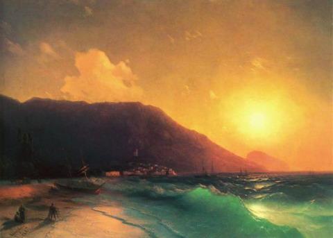 Морской вид - 1867 год