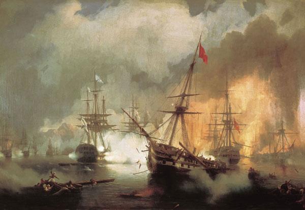 Морское сражение при Наварине 2 октября 1827 года. (Айвазовский И.К.)
