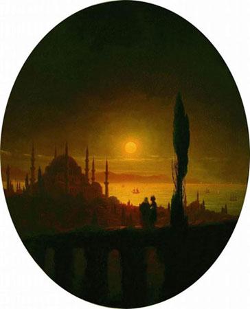 Лунная ночь у взморья. (Айвазовский И.К.)