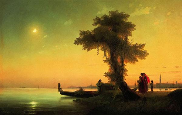 Вид на венецианскую лагуну. (Айвазовский И.К.)