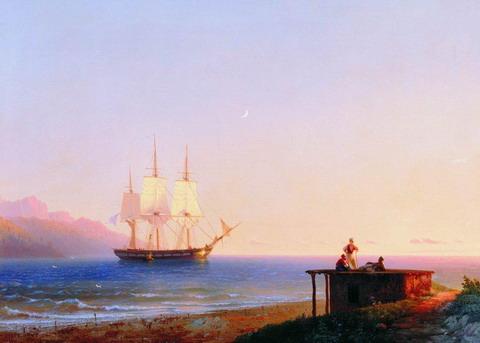 Фрегат под парусом - 1838 год