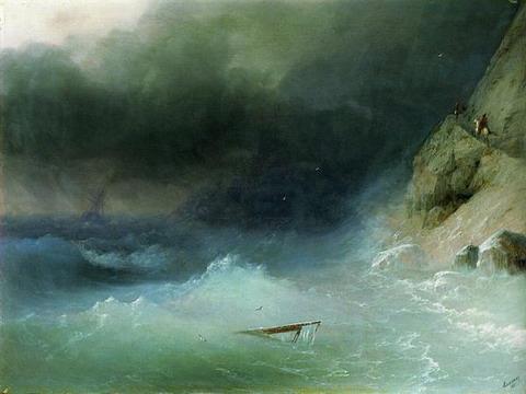Буря у скалистых берегов - 1875 год